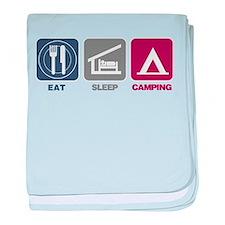 Eat Sleep Camping - Picto baby blanket