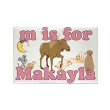 M is for Makayla Rectangle Magnet
