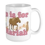 M is for Mariah Large Mug