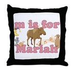 M is for Mariah Throw Pillow