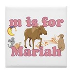 M is for Mariah Tile Coaster