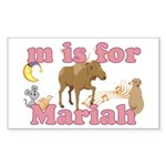 M is for Mariah Sticker (Rectangle 10 pk)