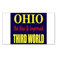 Ohio New 3rd World Sticker (Rectangle)