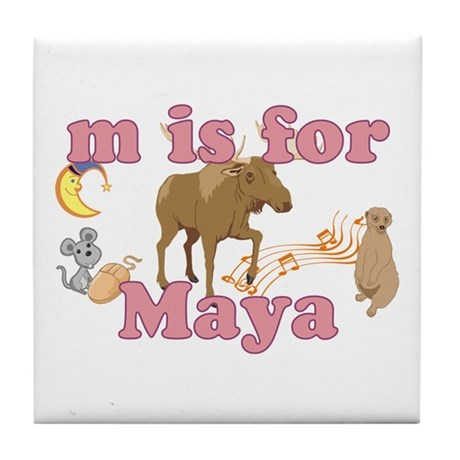 M is for Maya Tile Coaster