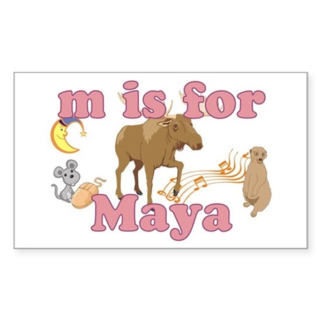 M is for Maya Sticker (Rectangle 10 pk)
