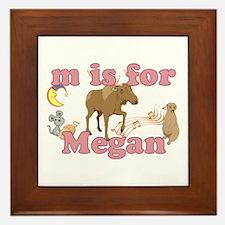 M is for Megan Framed Tile