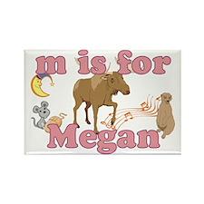 M is for Megan Rectangle Magnet