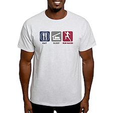 Eat Sleep Run Naked T-Shirt
