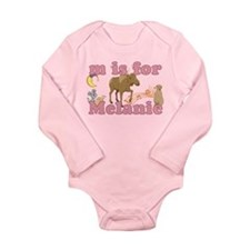M is for Melanie Long Sleeve Infant Bodysuit