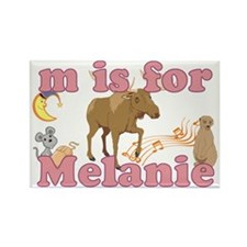 M is for Melanie Rectangle Magnet