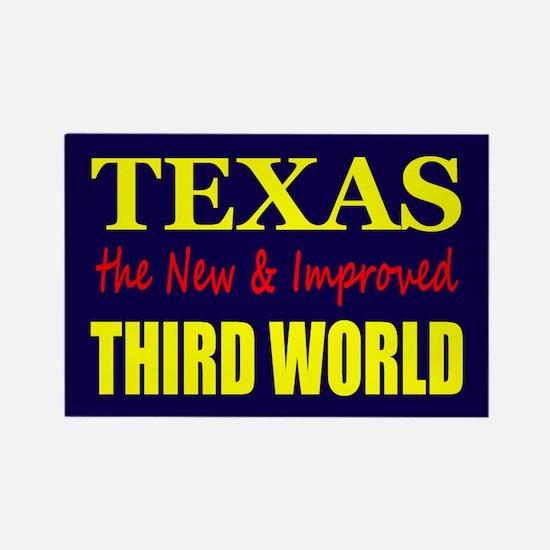 Texas New 3rd World Rectangle Magnet