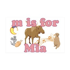 M is for Mia 38.5 x 24.5 Wall Peel
