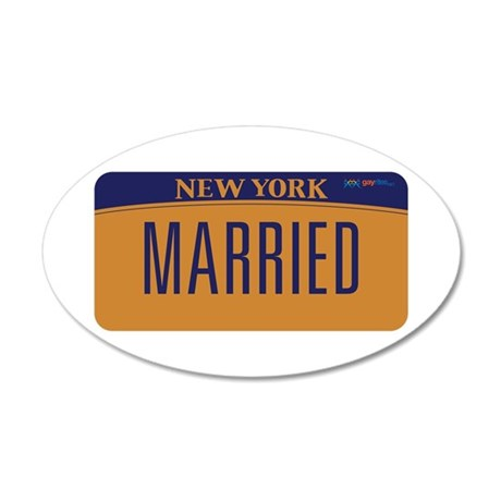 New York Marriage Equality 35x21 Oval Wall Decal