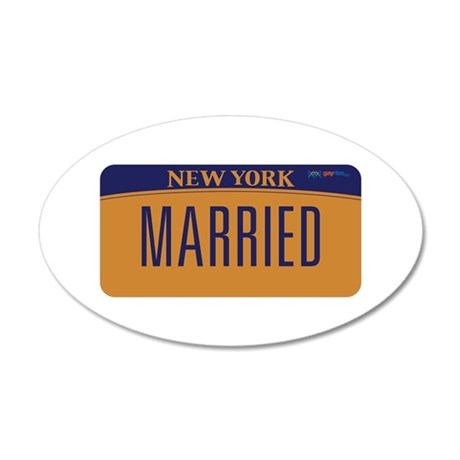 New York Marriage Equality 20x12 Oval Wall Decal
