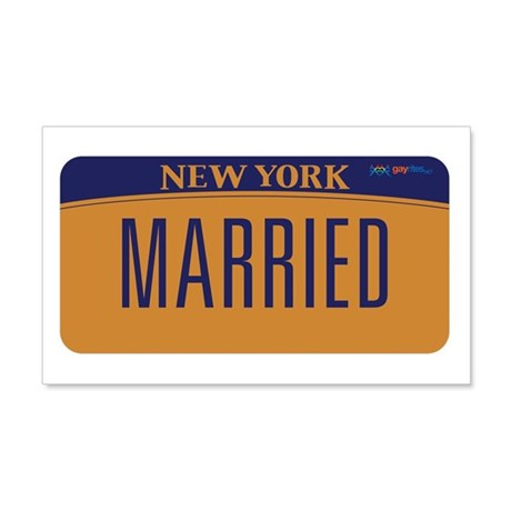New York Marriage Equality 20x12 Wall Decal