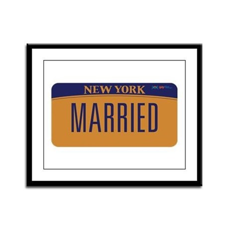 New York Marriage Equality Framed Panel Print