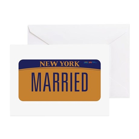 New York Marriage Equali Greeting Cards (Pk of 10)