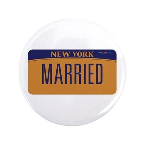 """New York Marriage Equality 3.5"""" Button (100 pack)"""