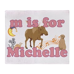 M is for Michelle Throw Blanket