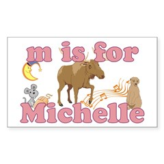 M is for Michelle Decal