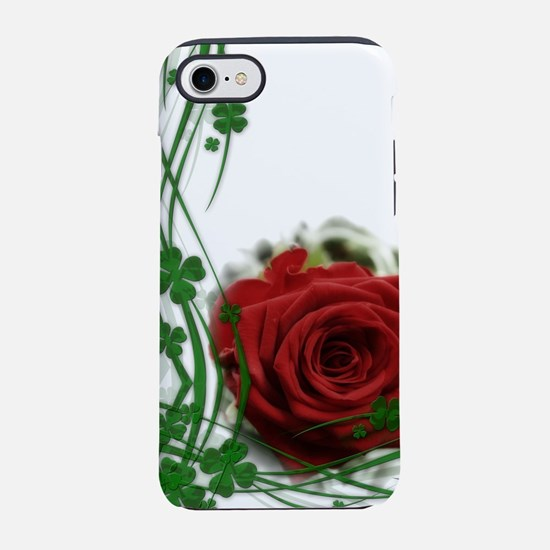 Rose With Four Leaf Clovers iPhone 7 Tough Case