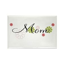 Mom Flowers Rectangle Magnet