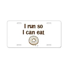 Run for Donuts Aluminum License Plate