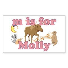 M is for Molly Decal