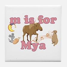 M is for Mya Tile Coaster