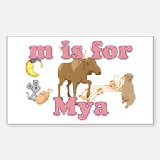 M is for Mya Decal
