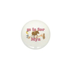 M is for Mya Mini Button (100 pack)