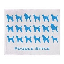 Poodle Style: Blue Throw Blanket