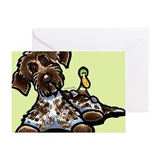 Funny Pointing Griffon Greeting Card
