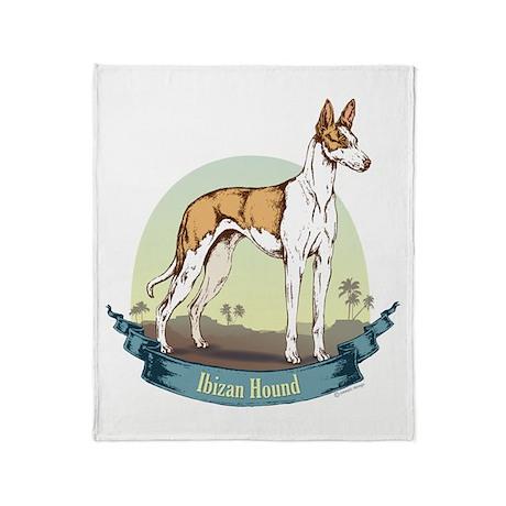 Ibizan Hound: Banner Series Throw Blanket