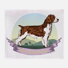 Welsh Springer Spaniel: Banne Throw Blanket