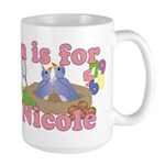 N is for Nicole Large Mug