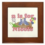 N is for Nicole Framed Tile