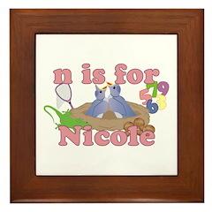 N is for Nicole Framed Tile