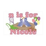 N is for Nicole 38.5 x 24.5 Wall Peel