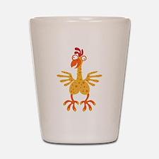 Loony Chicken Shot Glass