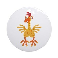 Loony Chicken Ornament (Round)