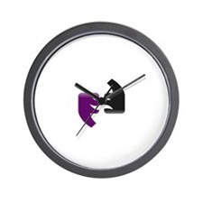 Bipolar PacMan Wall Clock