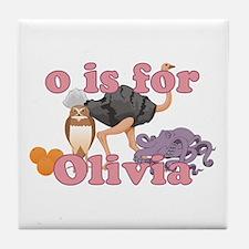 O is for Olivia Tile Coaster