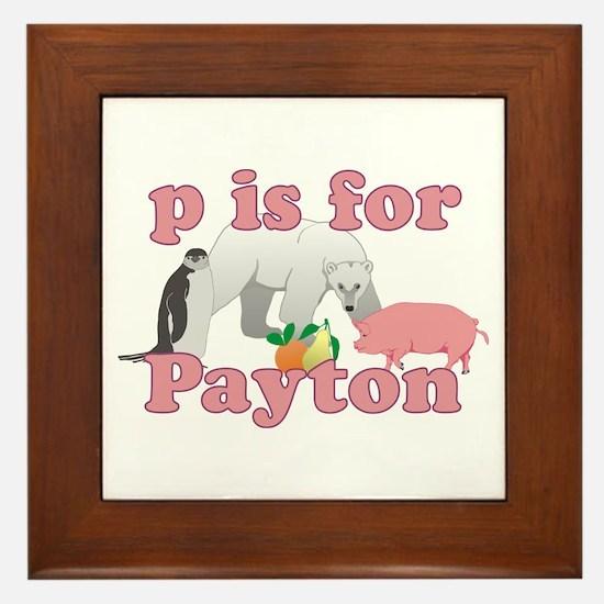 P is for Payton Framed Tile