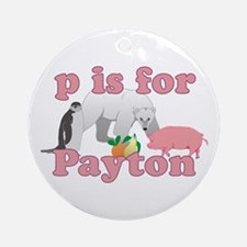 P is for Payton Ornament (Round)