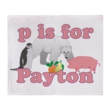 P is for Payton Throw Blanket