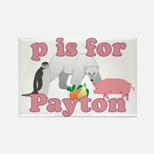 P is for Payton Rectangle Magnet