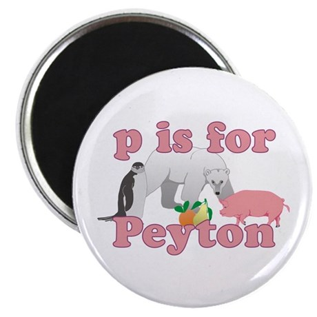 """P is for Peyton 2.25"""" Magnet (100 pack)"""