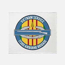 Vietnam 173rd Airbone CIB Throw Blanket