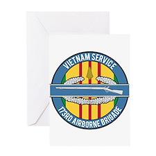 Vietnam 173rd Airbone CIB Greeting Card